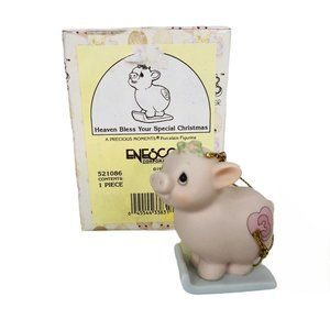 Precious Moments Xmas Train Ornament Pig Sled Age